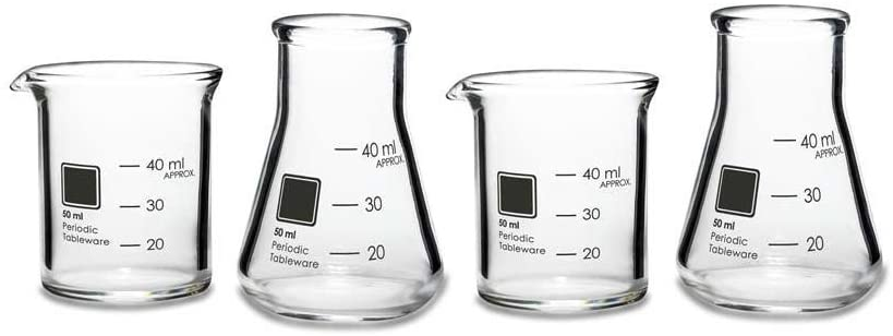 Periodic Tableware Laboratory Beaker Shot Glasses