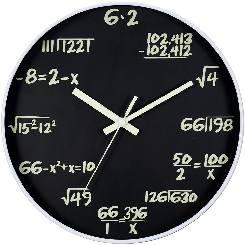 Math Wall Clock, Wall Clocks