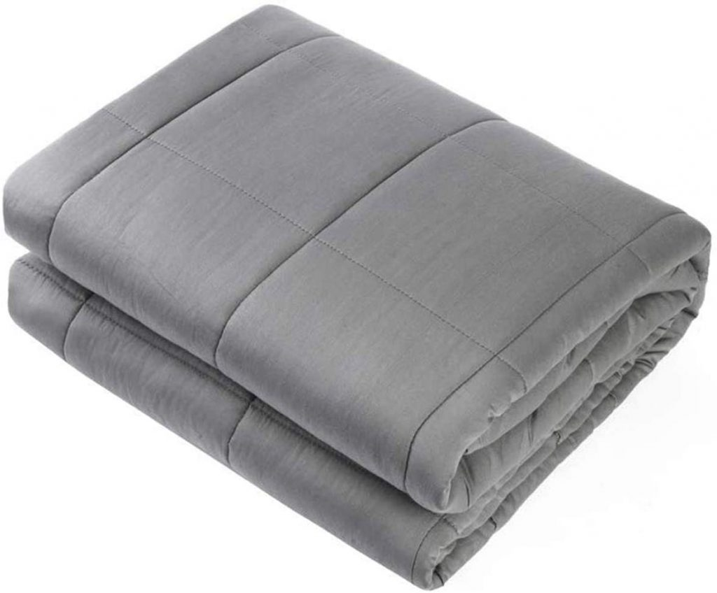 Adult Weighted Blanket Queen Size, Premium Glass Beads, Dark Grey