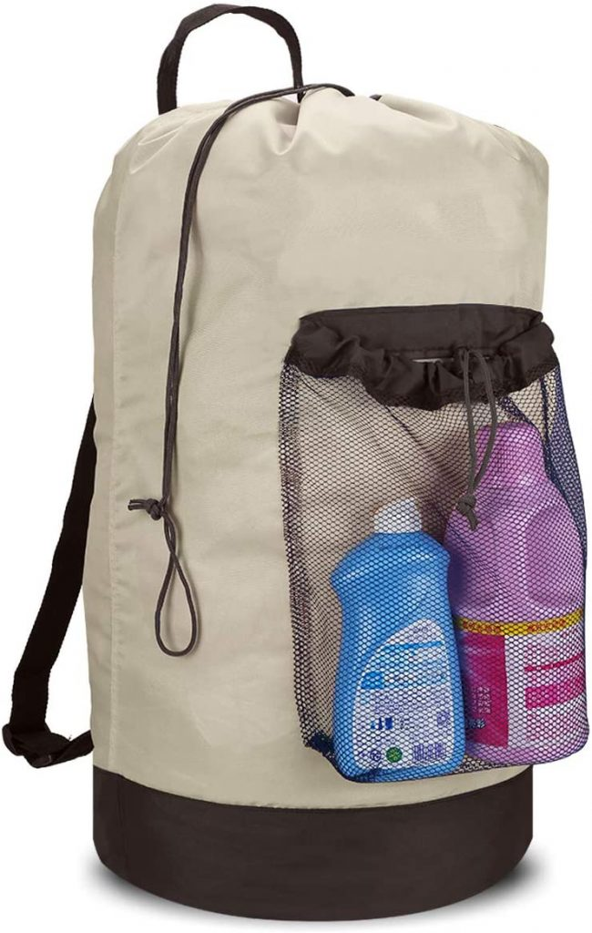 Dalykate Backpack Laundry Bag, Shoulder Straps and Mesh Pocket