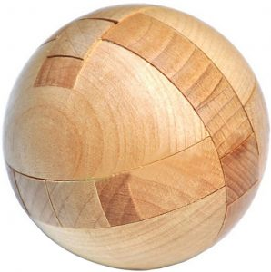 Wooden Puzzle Magic Ball, Brain Teasers Toy