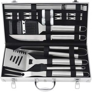 Outdoor Barbecue Grill Accessories Set, Stainless Steel