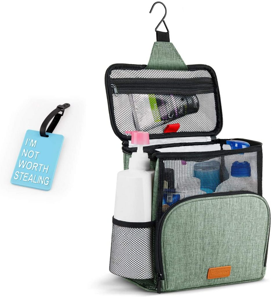 Shower Caddy Tote Bag, Hiverst Hanging Toiletry Bag