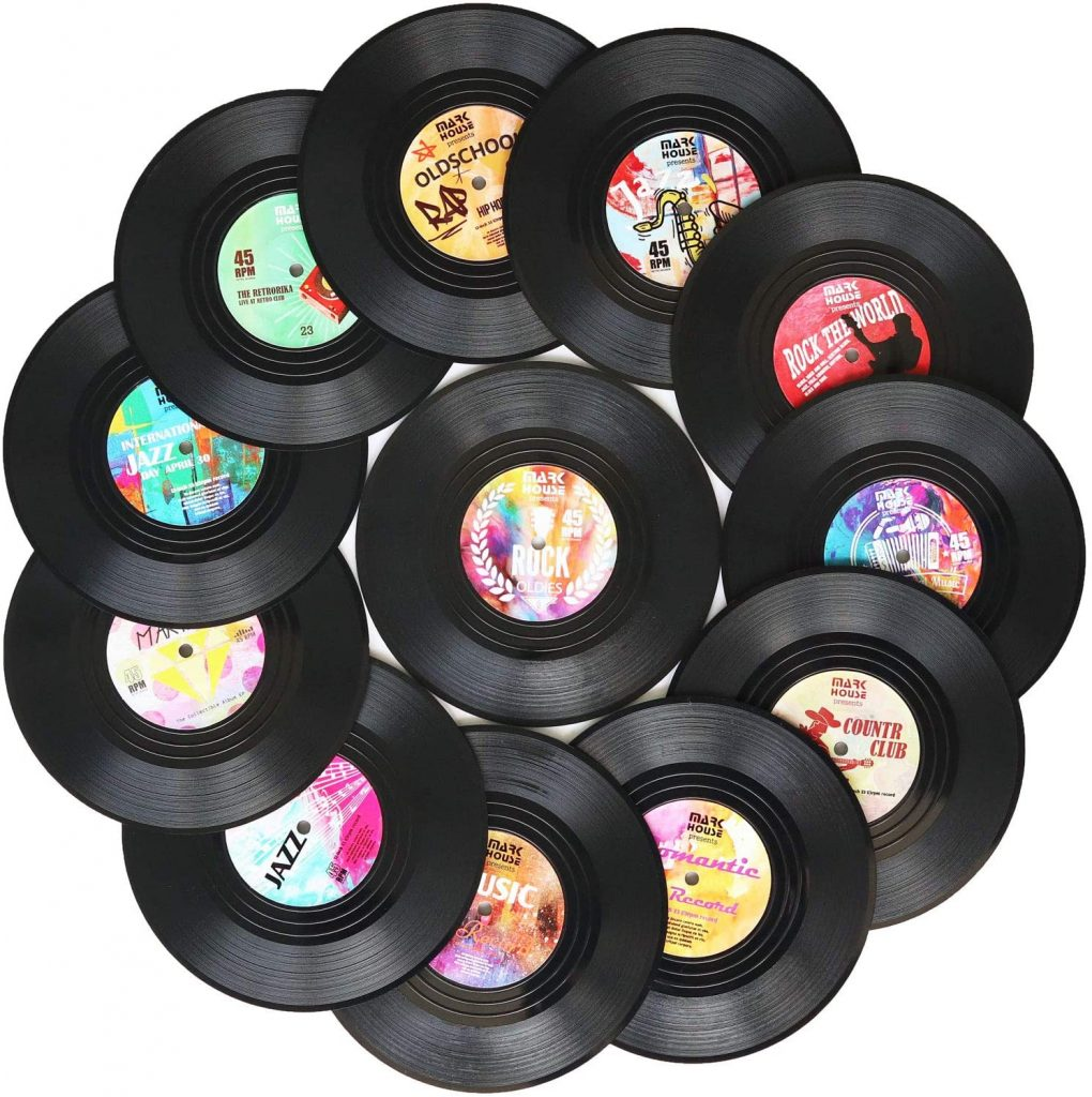 Funny Coasters, Sayings Vinyl Record Disk