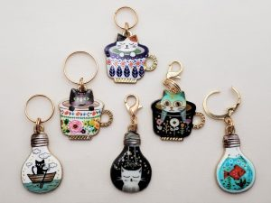 Adorable Cat Stitch Markers