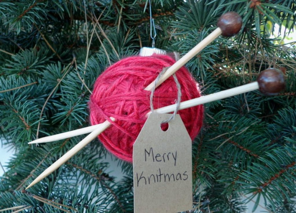 Christmas Knitting Ornament
