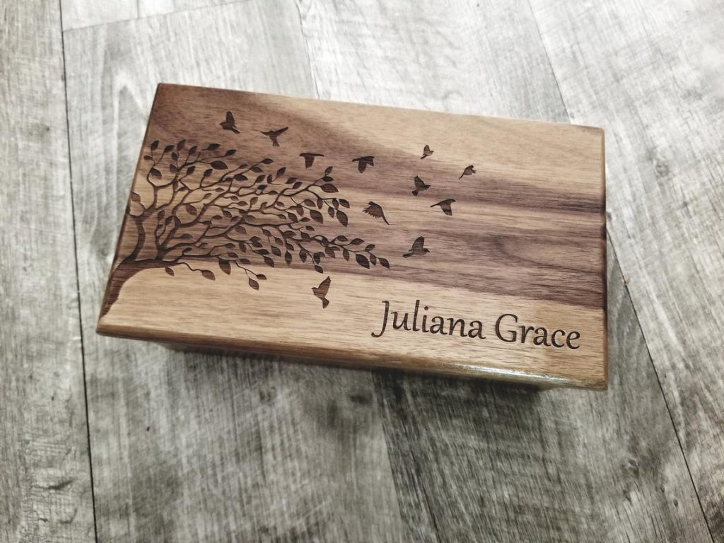 Personalized Music and Jewelry Box