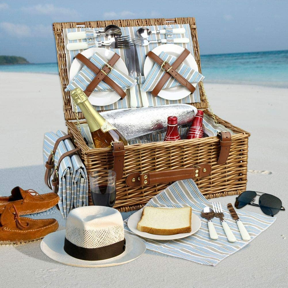 Picnic Basket Set for Four