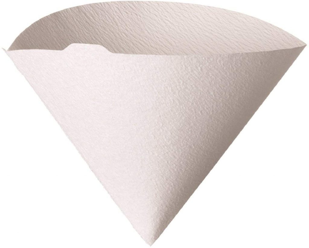 Hario V60 Paper Coffee Filters, Size 02, White, Tabbed