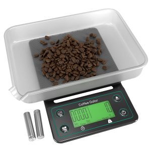 coffee scale with timer green lcd display