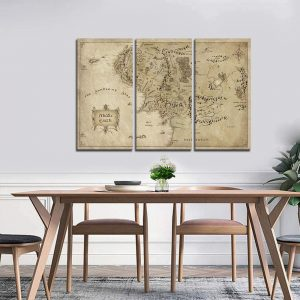 Middle Earth Map Wall Canvas