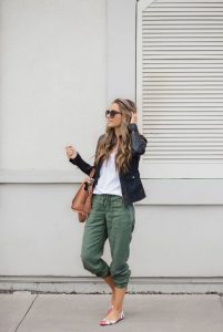 Colorful Flats and Green Joggers