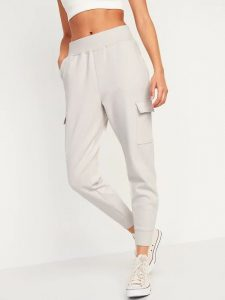 White Converse Shoes and White Joggers
