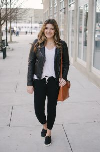 Leather Jacket Paired To Your Joggers