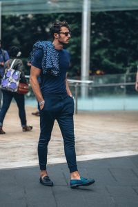 A Fit Tee and Loafers