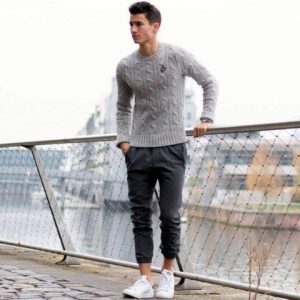 Warm With Knit Sweaters and Joggers